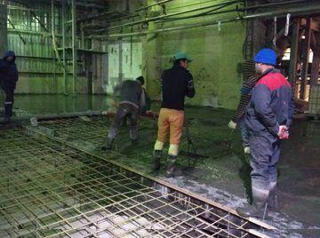 Устройство бетонного пола - ПАО «ЗКИ»