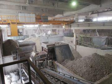 Устройство подпорных стенок, монтаж участка дробления глины